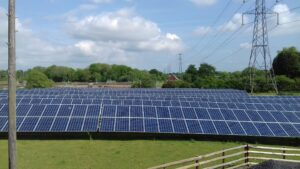 image of solar panels powering the arden self storage site
