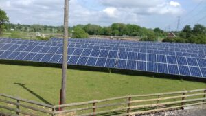 image of solar panels that power and help run the arden self storage site